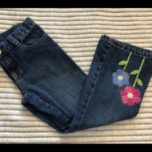 Girls Gymboree Showers Of Flowers Denim Jeans